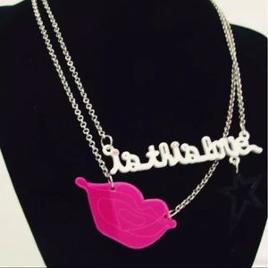 "Collana Fornarina ""Is This Love"" Necklace Pink Lip"
